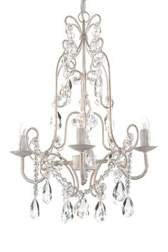 Four Light Wrought Iron and Crystal Chandelier by Gallery Chandeliers on @HauteLook