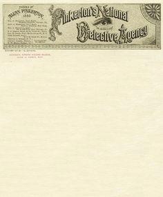 Pinkerton Detective Agency Lettehead, 1880's