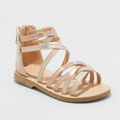 38f6140f419f Add some shine to your girl s look with Cami Two-Piece Gladiator Sandals  from Cat
