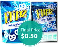 Flipz Pretzels, Only $0.50 at Dollar Tree! Week 12/28.