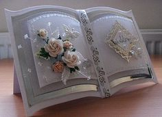 bookatrix style handmade wedding card | by Briar Elffrost