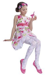2aaedcc8752 Collant blanc fillette fille taille 11 ans (140 146) fantaisie Libby Fiore