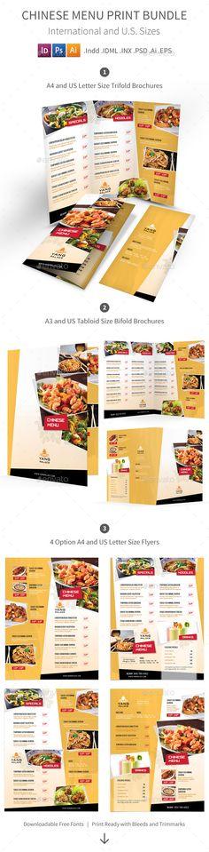 Restaurant Food \ Beverage Menu Template Menu templates, Menu - a la carte menu template