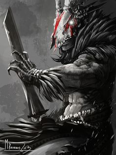 Tribal Character Concepts by Michael Richards, via Behance