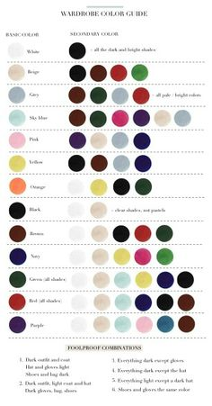 Wardrobe color guide complimentary colors