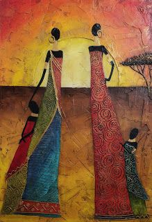 PYN ART: Africanas Estilizadas al Atardecer