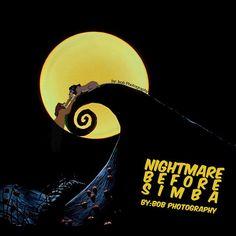 Nightmare Before Simba #thelionking #nightmarebeforechristmas #disney #timburton #funnypictures #mashup #mufasa #scar #simba