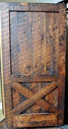 circular sawn fir flooring | Circle sawn door from Sustainable Lumber Co.