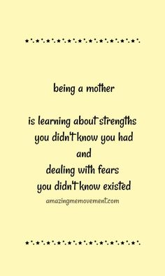 15 sweet and heartwarming mom quotes that will give any mom hope that she is amazing and worthy and she is doing a fantastic job! Best Mom Quotes, Best Advice Quotes, Sweet Quotes, Self Love Quotes, Good Advice, Favorite Quotes, Life Lesson Quotes, Life Lessons, Life Quotes