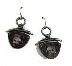seek and find earrings by Tish Collins  ~  x