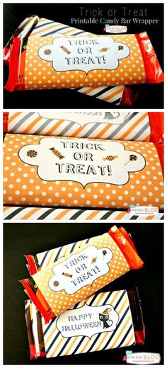 Printable Halloween Candy Bar Wrappers | Free Halloween Printables for Trick or Treat | Easy Halloween Ideas from TodaysCreativeLife.com | Click the photo for your free printable.