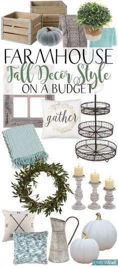 Farmhouse Fall Decor Style on a Budget! | A Shade Of Teal