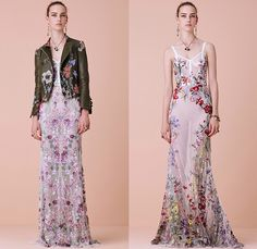 Alexander McQueen 2016 Resort Cruise Pre-Spring Womens Lookbook Presentation - Flowers Florals Botanical Sweet Pea Lily Of The Valley Begonia Hollyhock Cross-Stitch Snakeskin Brooch Weave Chunky Knit Tweed Sweater Jumper Moto Motorcycle Biker Leather Pencil Skirt Frock Motif Dress Gown Eveningwear Ruffles Sheer Chiffon Lace Lasercut Strapless Outerwear Coat Jacket Bow Tie Halter Top Corset
