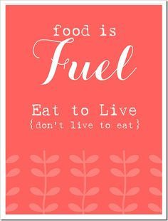 Just because you're dieting doesn't mean to deny your body of the fuel it needs.