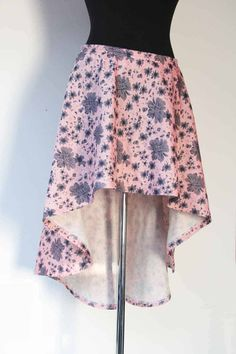 Návod a střih na dámskou asymetrickou sukni