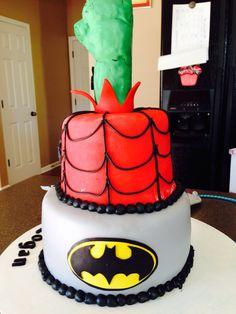 Super hero cake other side