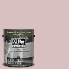 This paint color could be modified a bit, I just like the idea of a greyed pink.  BEHR Premium Plus Ultra 1-Gal. -13 Peony Blush  Paint-375001