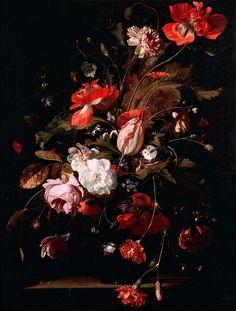Willem van Aelst, Still Life with Flowers