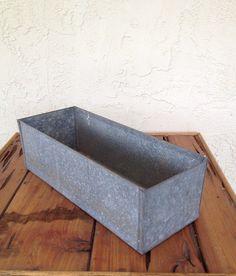 Vintage Galvanized Metal Box by ContemporaryVintage on Etsy