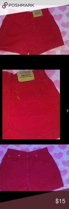 954 stretch red high waist denim jeans shorts Sold Levi's juniors size 11 954 stretch red high waist denim jeans shortsfinal markdownno other discounts unless you bundle  Levi's Shorts Jean Shorts