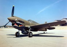 The Curtiss P-40 Warhawk was an American single-engine, single-seat, all-metal fighter and ground attack aircraft that first flew in 1938. The P-40 design was a modification of the previous Curtiss P-36 Hawk which reduced development time and enabled a rapid entry into production and operational service. The Warhawk was used by most Allied powers during World War II, and remained in front line service until the end of the wa