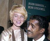 SAMMY DAVIS JNR with wife May Britt IN 1960 - Stock Photo