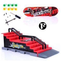 F Type Build Park Kicker to 7 Stair Rail Set Skate Park Ramp Parts for Desk Game Fingerboard Fun Finger Skateboard Track