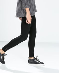 ZARA - WOMAN - LEGGINGS WITH ZIPPER
