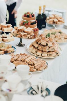 Afternoon Tea Summertime Pastel English Country Garden Wedding http://alipaul.com/