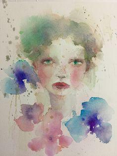 田代知子(Tomoko Tashiro) tashirotomoko.com February 2018 It's my new work. #tomokotashiro #art #watercolor #drawing #woman #illustration #田代知子 #絵画 #イラストレーション Illustration, Watercolor Tattoo, Japan, Drawing, Artist, Painting, Pen And Wash, Artists, Painting Art