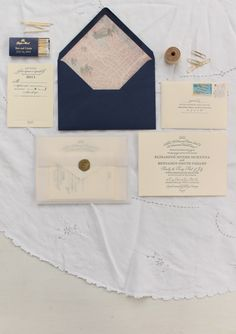 vellum envelope and gold seal