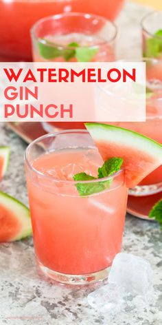 Watermelon Gin Punch is a gorgeous make-ahead batch cocktail to refresh all of your guests at your next summer party. Watermelon Gin Punch is a gorgeous make-ahead batch cocktail to refresh all of your guests at your next summer party. Gin Cocktail Recipes, Alcohol Drink Recipes, Summer Cocktails, Cocktail Drinks, Alcoholic Drinks Using Watermelon, Party Drinks, Easy Gin Cocktails, Gin Recipes, Summer Drinks