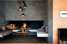 smart planning of fireplace+lounge