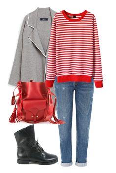 Образ с джинсами и пальто