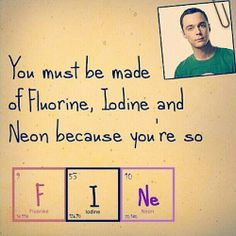 Flourine Iodine and NEon