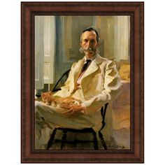 Man with Cat, 1898 by Cecilia Beaux Framed Painting Print