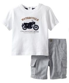 Calvin Klein Baby-boys Infant Top with Denim Shorts $17, get it now at http://ilovebabyclothes.com/?page_id=666
