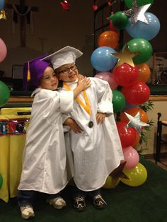 so cute preschool graduation with homemade cap and gown large