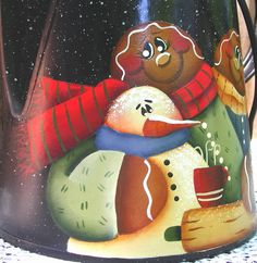 Gingerbread Snowman Hand Painted Black by PaintingByEileen on Etsy, $22.00