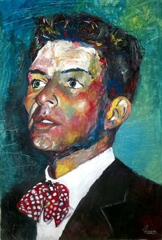 Frank Sinatra - Columbia  - Jazz - mixed media - 28x40 inches - Original art by Marcelo Neira