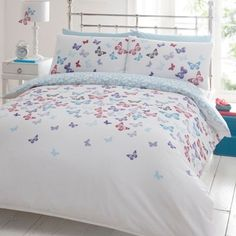 Debenhams White butterflies bedding set- at Debenhams.com