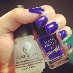 "#blue #violet #nails   plain and simple  products: ""indigo 312"" nail paint by #barryM & top coat #chinaglaze"