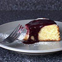 Lime Yogurt Cake with Blackberry Sauce by Smitten Kitchen