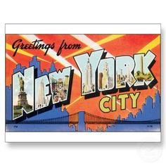 Greetings from New York City Postcard by feedmelinguini