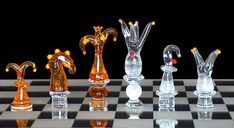 Abstract Clown Chess Set