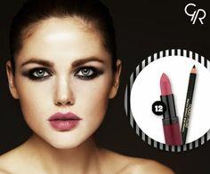 Golden Rose - Google+ Kış aylarının muhteşem ikilisi Velvet Matte Lipstick No:12 ve Smokey Effect Eye Pencil!