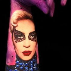 Take us back to Gaga's incredible Super Bowl performance via art.... crazy, sick, super talented art!! Using Paradise Makeup AQ Alexandra kills it on her arm..... wow!!!  #Repost @alexandra__bastien ・・・ New Body Art  Gaga all the way!  Kids from a primary school who adore their art and music classes, asked me to create a body art with Lady Gaga as a subject! So I created 2 different body paintings for them! Here is the first one... on my arm.  I think it is essential to find all sorts of ...