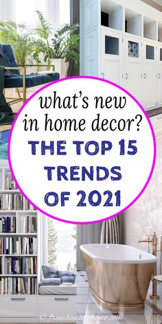 GREAT list of the most popular home decor trends for 2021. This will definitely provide inspiration for getting your interiors updated with the latest styles. #fromhousetohome #2021 #homedecor #trends #homedecortrends Interior Decorating Tips, Interior Design Tips, Decorating Your Home, Interior Designing, Decorating Ideas, Home Decor Trends, Home Decor Inspiration, Diy Home Decor, Decor Ideas