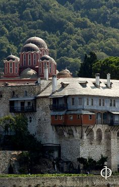 Monastery of Xenophontos, Mount Athos, Chalkidiki region, Macedonia, Greece Sacred Architecture, Church Architecture, The Holy Mountain, Christian World, Cathedral Church, Europe, Place Of Worship, Greece Travel, Greek Islands