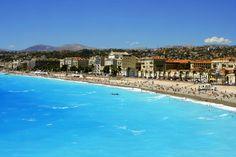 beach in nice,france